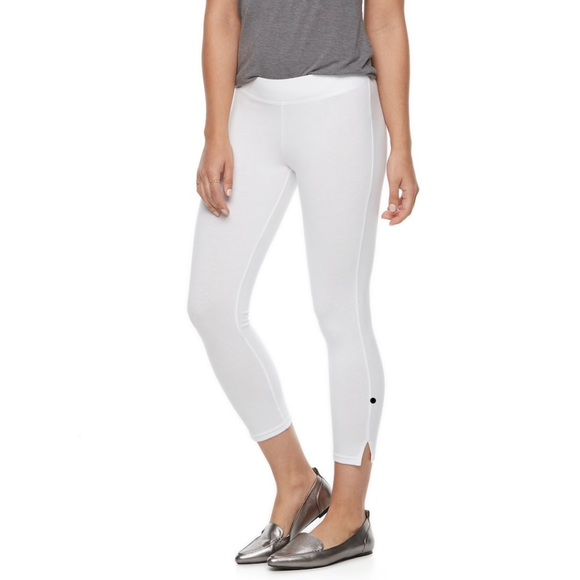 HUE Pants - Women's Utopia White Ankle Legging